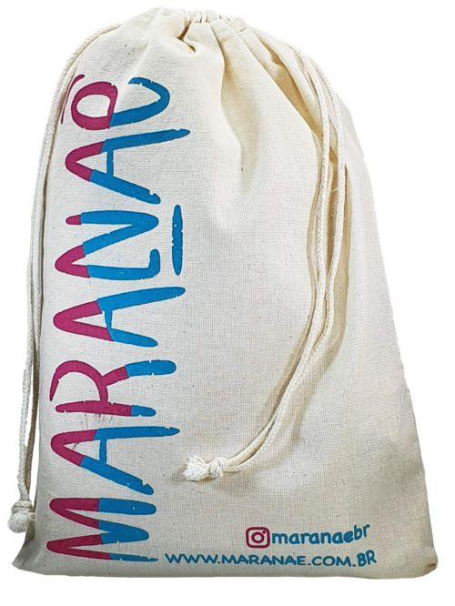 Saquinho de algodão personalizado 20x30 - impressão em serigrafia 2 cores - Linha Classic 4073  - Litex Embalagens