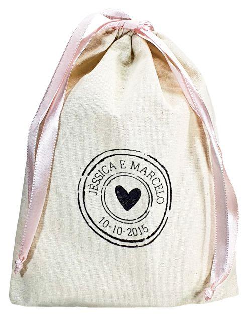 Saquinho de algodão  personalizado 20x30 -  impressão em serigrafia  -  Linha Classic 4324  - Litex Embalagens