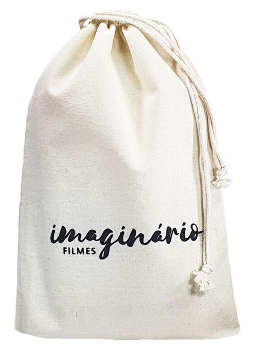 Saquinho de algodão  personalizado 20x30 -  impressão em serigrafia  -  Linha Classic 4351  - Litex Embalagens