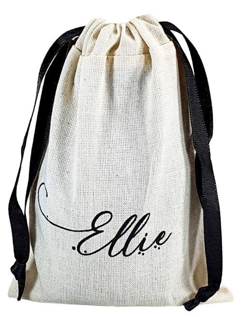 Saquinho de algodão personalizado 25x35 - Impressão serigrafia  -  Linha Classic  4123  - Litex Embalagens
