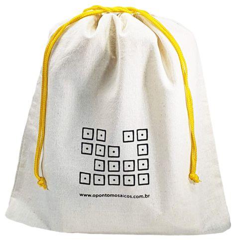 Saquinho de algodão  personalizado  45x50 -  impressão em serigrafia   -  Linha Classic  4315  - Litex Embalagens