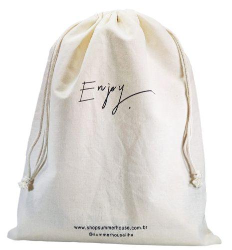 Saquinho de algodão  personalizado 50x70 -  impressão em serigrafia   -  Linha Classic  4314  - Litex Embalagens