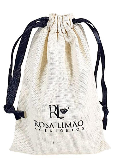 Saquinho de algodão personalizado com logomarca 12 x 18 - impressão em serigrafia - Linha Classic 4153  - Litex Embalagens