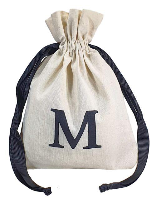 Saquinho de algodão personalizado para acessórios - 12x18 - impressão em serigrafia - fechamento fita de gorgurão - Linha Classic  4173  - Litex Embalagens