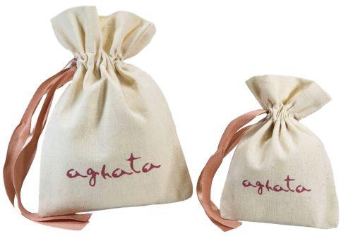 Saquinho de algodão  personalizado para bijuteria 12x18 -  impressão em serigrafia  -  Linha Classic 4360  - Litex Embalagens