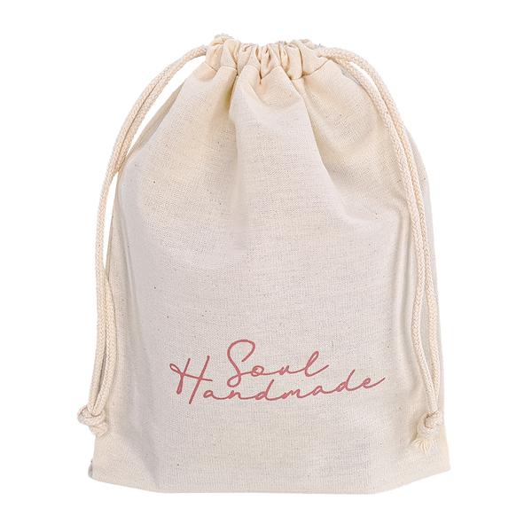 Saquinho de algodão  personalizado para bolsa - 40 x 60 -  impressão da logomarca em serigrafia - Linha Classic  7180  - Litex Embalagens