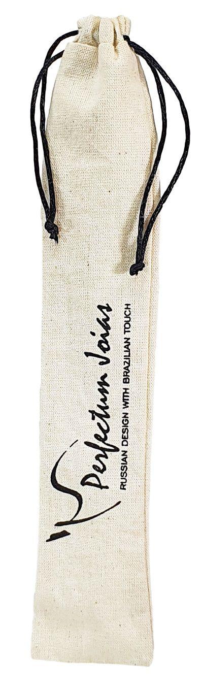 Saquinho de algodão personalizado para caneta  05x15 - impressão em serigrafia  - Linha Classic 4414  - Litex Embalagens