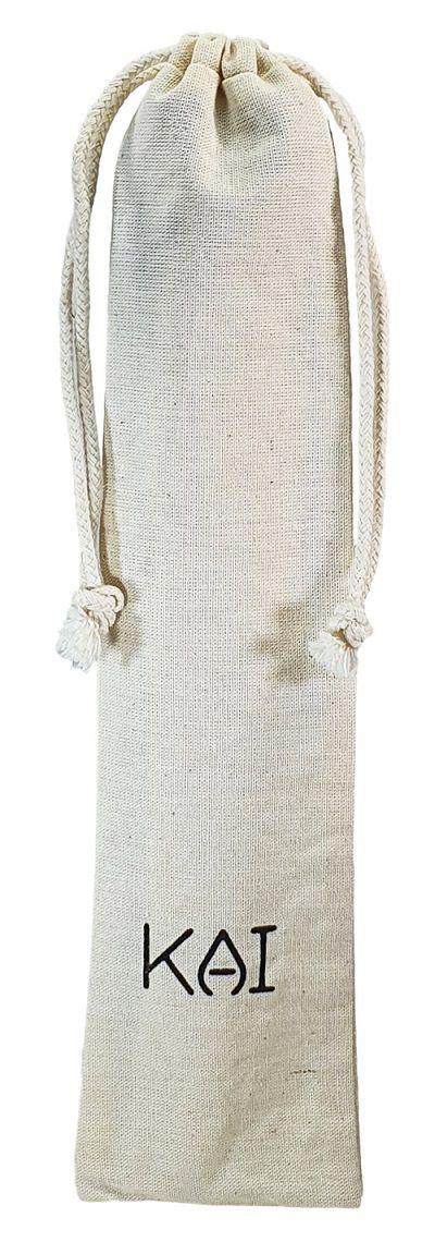 Saquinho de algodão personalizado para canudo 07x20 - impressão em serigrafia  - Linha Classic 4413  - Litex Embalagens