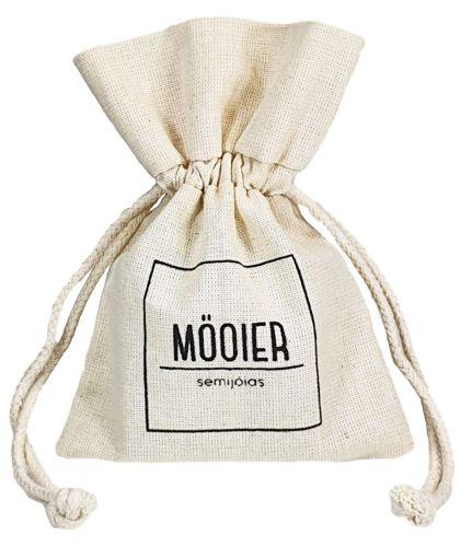Saquinho de algodão  personalizado para joias 08X12 -  impressão em serigrafia  -  Linha Classic 4350  - Litex Embalagens