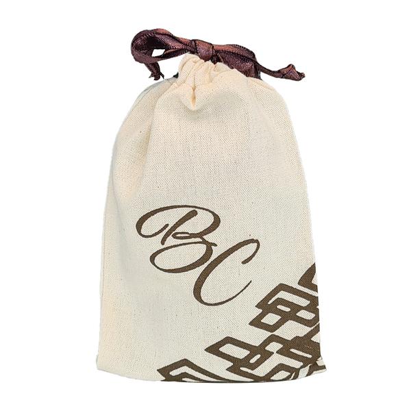 Saquinho de algodão  personalizado para joias 12 x 18- impressão em serigrafia  -  Linha Classic 4372  - Litex Embalagens