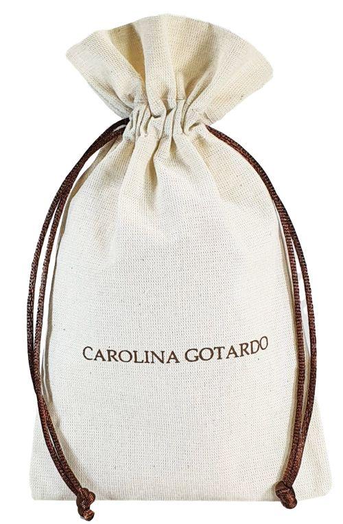 Saquinho de algodão personalizado para lembrancinhas -  25x35 -  impressão da logomarca em serigrafia - Linha Classic  7146  - Litex Embalagens