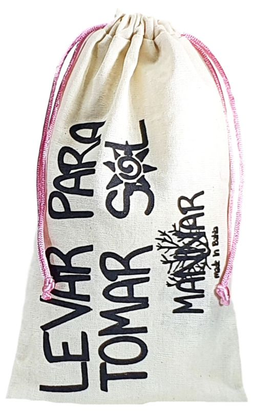 Saquinho de algodão  personalizado para perfume - 15x30 - impressão em serigrafia -  Linha Classic 13341  - Litex Embalagens
