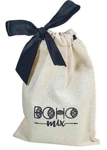 Saquinho de algodão personalizado para perfumes - 20x25 - impressão em serigrafia - Linha Classic 1325  - Litex Embalagens