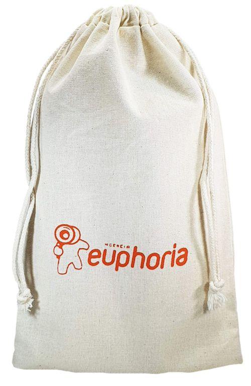Saquinho de algodão personalizado para sapato 30x40 - impressão em serigrafia - Linha Classic 13312  - Litex Embalagens