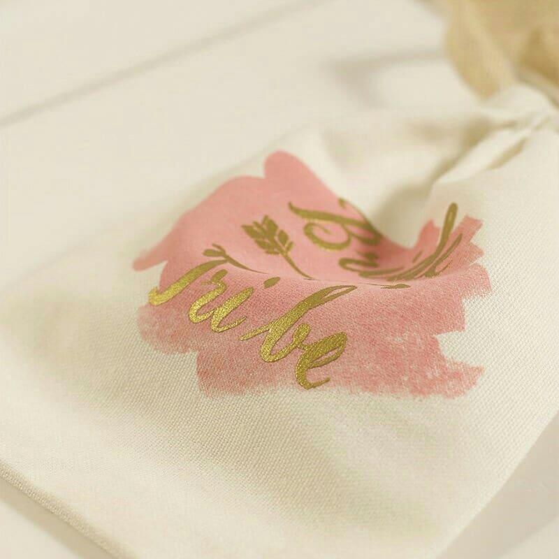 Saquinho de algodão personalizado 20x30 - Impressão Hot-Stamping Italiano e serigrafia - Linha Premium  1370  - Litex Embalagens