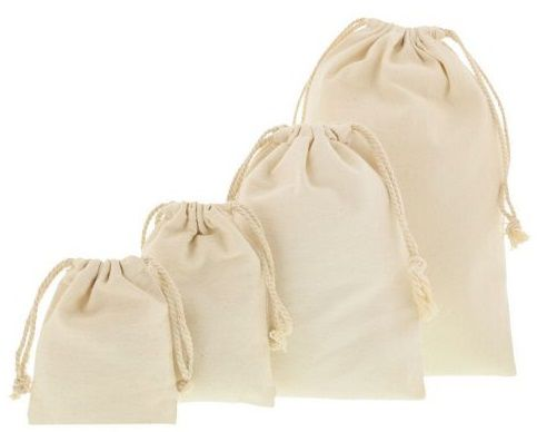 Saquinho de algodão sem impressão 18 X 35 - Para outros tamanhos consulte -  Linha Classic 2026  - Litex Embalagens