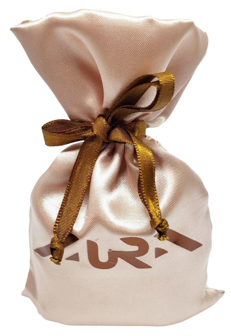 Saquinho de cetim  personalizado para semijoias - 08 X 12  - Personalização em Hot-Stamping Cobre Italiano -  Linha Luxo 123  - Litex Embalagens