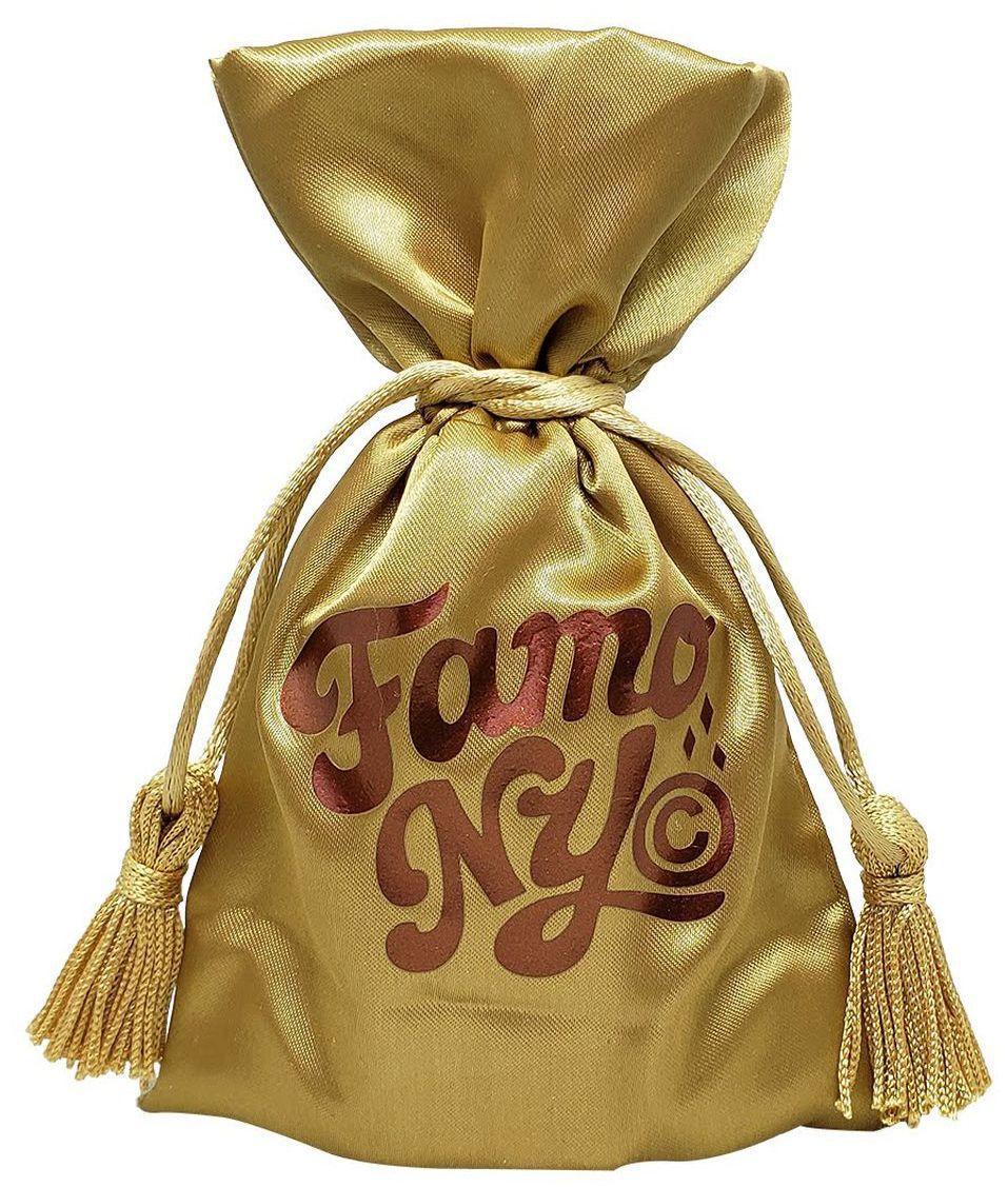 Saquinho de cetim 10 X 15 - Personalização em Hot-Stamping Italiano cobre - Fechamento com pingente de seda -   Linha Premium 6158  - Litex Embalagens