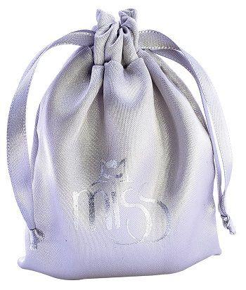 Saquinho de cetim personalizado para lenços de cabelos - 12 x 18  - Impressão Foil Metalizado -  Linha Classic 6159  - Litex Embalagens
