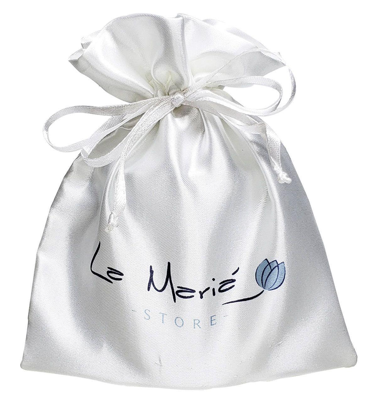 Saquinho de cetim para biquini - 20 x 30 - impressão colorida da logomarca -  Linha Classic  7085  - Litex Embalagens