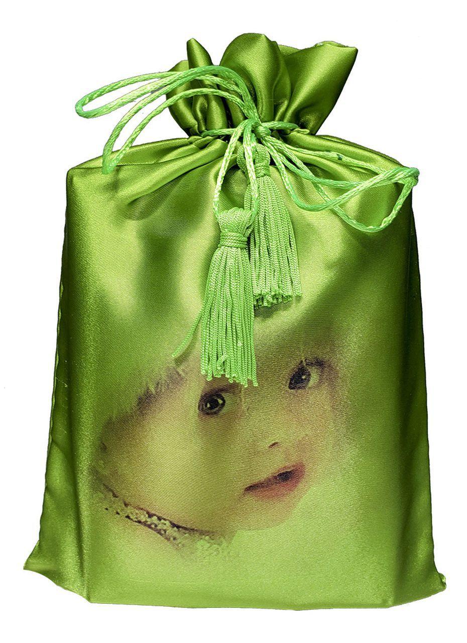Saquinho de cetim 30 x 40 - impressão digital - Fechamento com pingente de seda -  Linha Exclusive 1307  - Litex Embalagens
