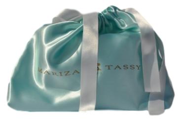 Saquinho de cetim personalizada para bolsa - 30x30 - impressão em serigrafia -   Linha Luxo 7007  - Litex Embalagens