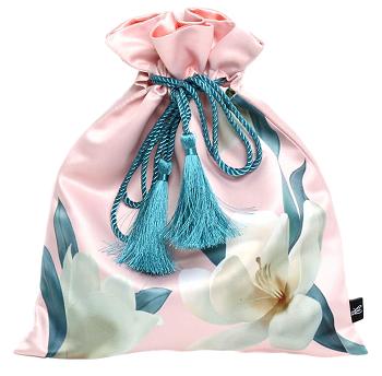 Saquinho de cetim 20x30 impressão total colorida com corda e pingente de seda -  Linha Premium 1352  - Litex Embalagens
