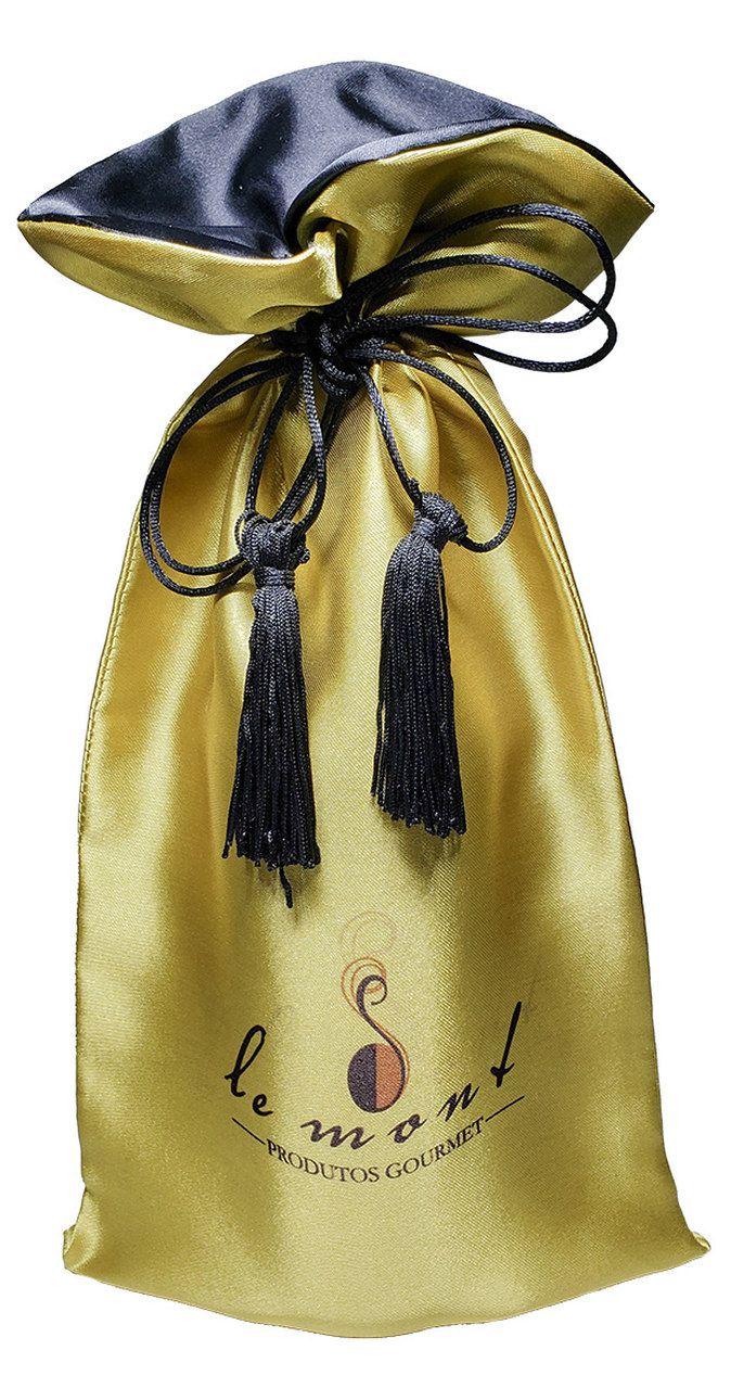 Saquinho de Cetim para garrafa 18 x 40 - Impressão colorida - Linha Exclusive  2183  - Litex Embalagens