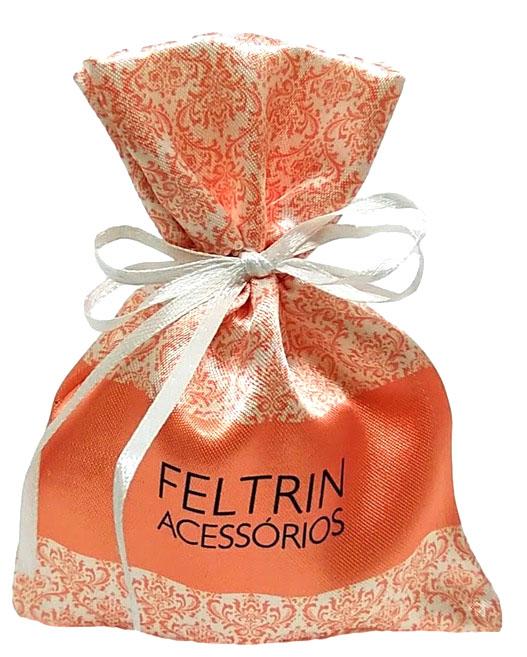 Saquinho de Cetim para semijoias - 08x12 - personalização colorida total  - Linha Luxo 1219  - Litex Embalagens