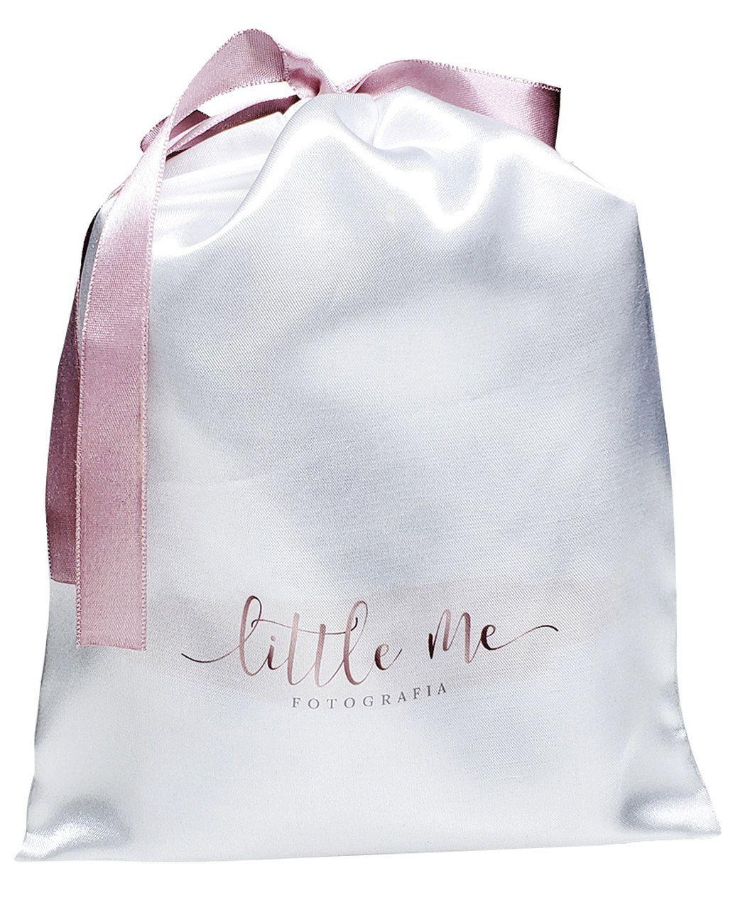Saquinho de Cetim Personalizado para camiseta - 25 x 35  - impressão colorida - Linha Classic  2473  - Litex Embalagens