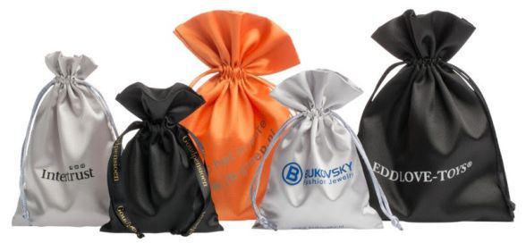 Saquinho de cetim personalizado 12 x 18 -  Para outros tamanhos consulte  - Linha Luxo 309  - Litex Embalagens