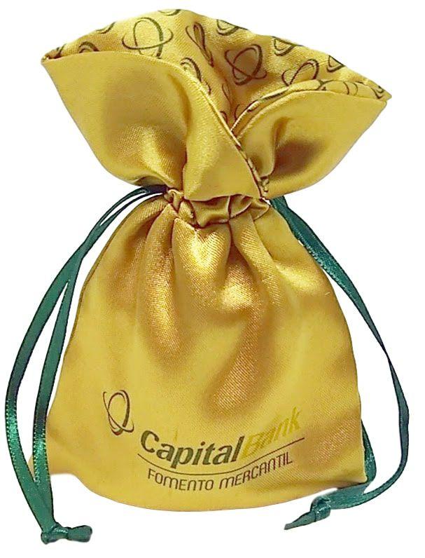 Saquinho de cetim para joias  10x15 - borda gola -  impressão colorida - Linha Premium 1221  - Litex Embalagens