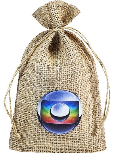 Saquinho de juta personalizada para garrafa 18x40  - Impressão Obm - Linha Orgânica  772  - Litex Embalagens