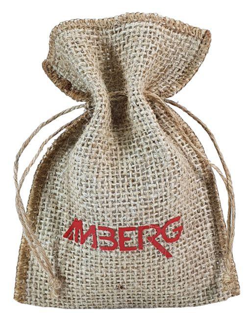 Saquinho de juta personalizada para joias 06x08 - impressão em power filme - Linha Orgânica  768  - Litex Embalagens