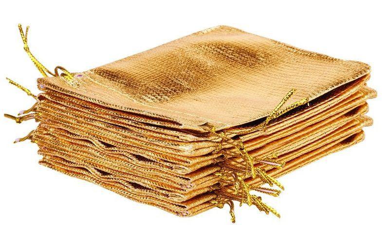 Saquinho de lamê para semijoias  -Sem impressão 12x18  - Linha Classic 2121  - Litex Embalagens