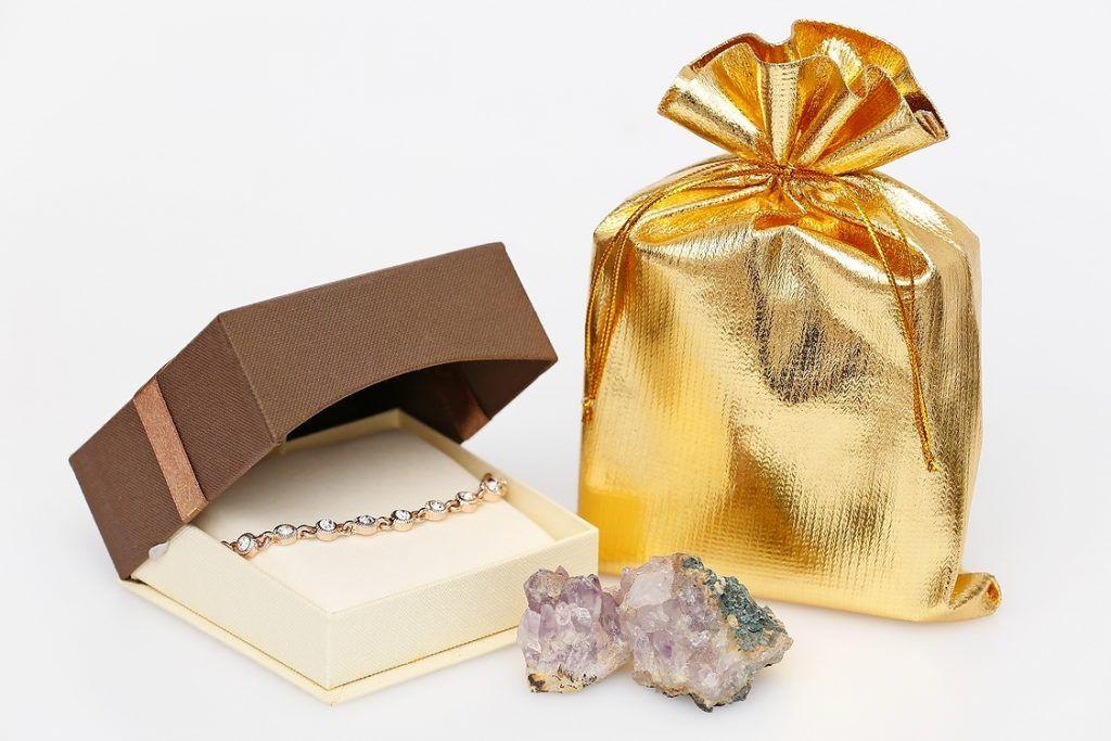 Saquinho de Lamê para joias  - Sem impressão 15x20 - Linha Classic 4052  - Litex Embalagens