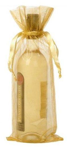 Saquinho de organza para garrafa  18 x 40 - sem impressão - Linha Classic 6192  - Litex Embalagens