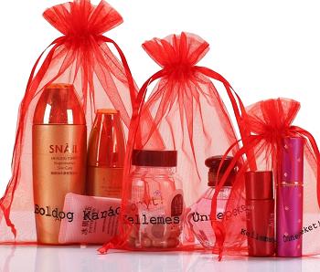 Saquinho de organza personalizada  para perfumes 25 x 35 - Para outros tamanhos consulte  - Linha Classic 7215  - Litex Embalagens