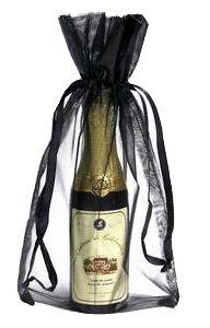 Saquinho de organza para garrafa - borda dupla sem impressão 18x40  - Linha Classic 1803  - Litex Embalagens