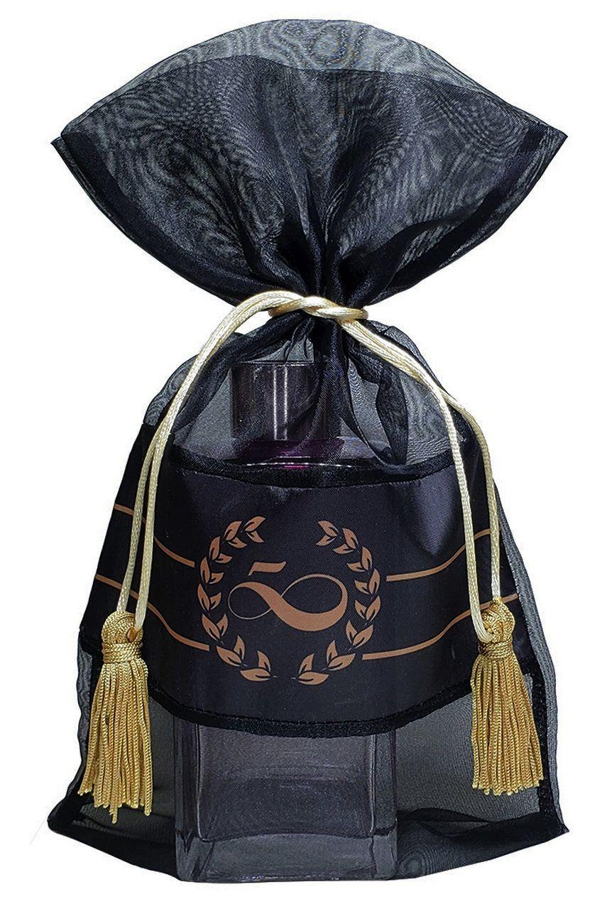 Saquinho de organza personalizada  para colar 15x20 - fechamento com cordão e pingente de seda  - Linha Exclusive 1155  - Litex Embalagens