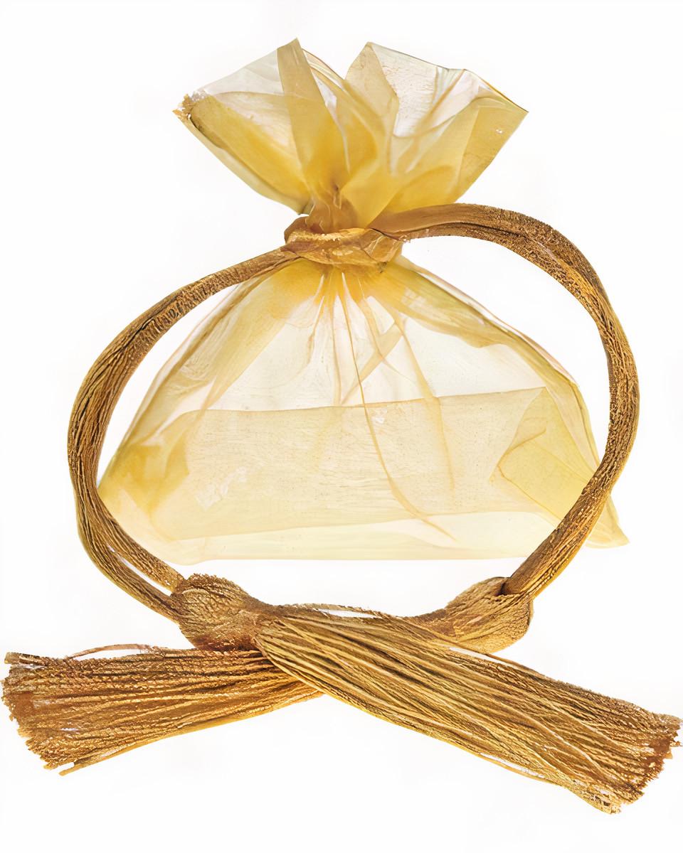 Saquinho de Organza Cristal Borda Dupla 08x12 Sem Personalização Fechamento com Cordão e Pingente de Seda  - Litex Embalagens