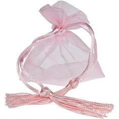 Saquinho de organza sem impressão - Fechamento com cordão e pingente de seda 08x12  - Linha Exclusive 347  - Litex Embalagens
