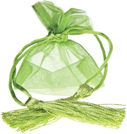 Saquinho de organza sem impressão - Fechamento com cordão e pingente de seda 10x15  - Linha Exclusive  2030  - Litex Embalagens