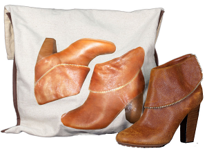 Saquinho de oxford para sapato 30 x 40 - impressão colorida - CLinha Exclusive  1857  - Litex Embalagens