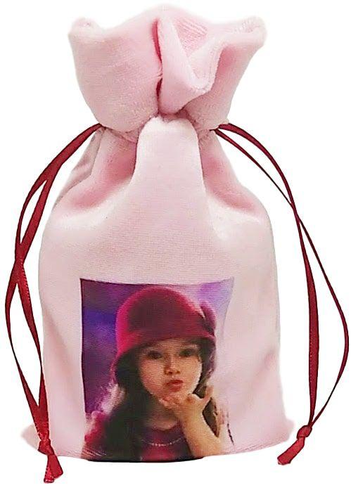 Saquinho de Plush Personalizado 10 x 15 - impressão colorida  -  Linha Luxo 7469  - Litex Embalagens