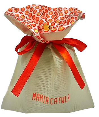 Saquinho de tnt para cessorios feminino - Tamanho 15 x 20 - personalizado em serigrafia -  Linha classic 14892  - Litex Embalagens