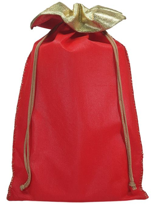 Saquinho de tnt - borda de lamê costura de lurex  -  30 x 40 - Sem impressão  -  Linha Classic 764  - Litex Embalagens