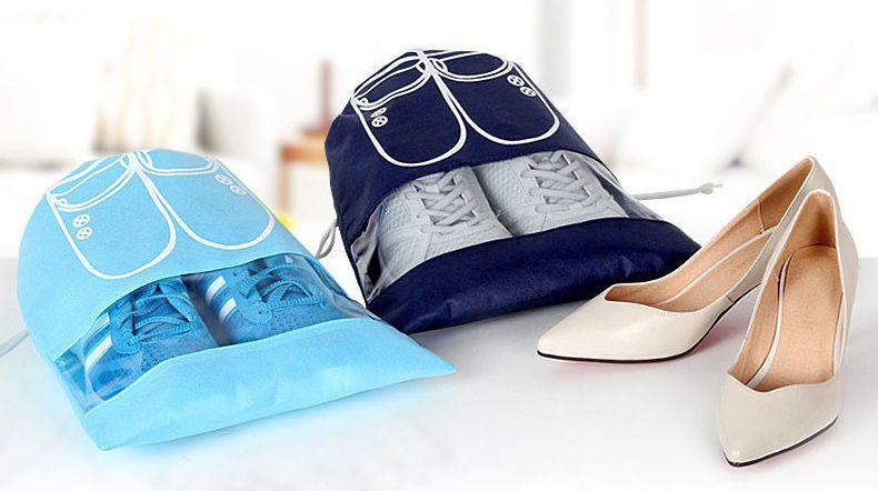 Saquinho de tnt para sapato 25x35 - com visor plastico personalizado - Linha Classic  1428  - Litex Embalagens
