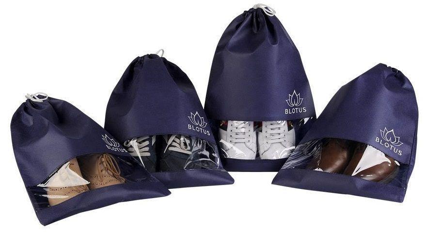 Saquinho de tnt para sapato - Tamanho 25x35 - com visor plastico personalizado - Linha classic 1429  - Litex Embalagens
