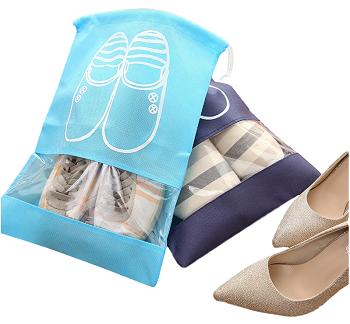 Saquinho de tnt para sapato 30x40 - com visor plastico personalizado - Linha Classic  1431  - Litex Embalagens